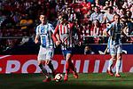 Atletico de Madrid's Antoine Griezmann and CD Leganes's Mikel Vesga during La Liga match between Atletico de Madrid and CD Leganes at Wanda Metropolitano stadium in Madrid, Spain. March 09, 2019. (ALTERPHOTOS/A. Perez Meca)