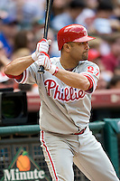 Philadelphia Phillies 3B Placido Polanco against the Houston Astros on Sunday April 11th, 2010 at Minute Maid Park in Houston, Texas.  (Photo by Andrew Woolley / Four Seam Images)