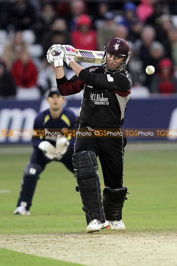 Marcus Trescothick in batting action for Somerset - Essex Eagles vs Somerset - Friends Life T20 cricket at the Ford County Ground, Chelmsford - 15/06/11 - MANDATORY CREDIT: Gavin Ellis/TGSPHOTO - Self billing applies where appropriate - Tel: 0845 094 6026