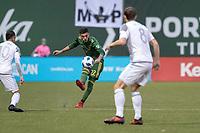 Portland, Oregon - Saturday, April 14, 2018.  Portland Timbers vs. Minnesota United FC in a match at Providence Park.