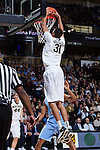 Andre Washington (31) of the Wake Forest Demon Deacons goes up for a slam dunk during first half action against the North Carolina Tar Heels at the LJVM Coliseum on January 21, 2015 in Winston-Salem, North Carolina.  The Tar Heels defeated the Demon Deacons 87-71.  (Brian Westerholt/Sports On Film)