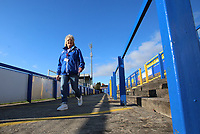 A Macclesfield Town volunteer during Macclesfield Town vs Kingstonian, Emirates FA Cup Football at the Moss Rose Stadium on 10th November 2019