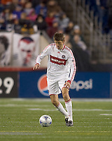 Chicago Fire defender Brandon Prideaux (6). The New England Revolution tied the Chicago Fire, 0-0, at Gillette Stadium on October 17, 2009.
