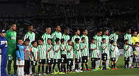 BOGOTA -COLOMBIA-1 -NOVIEMBRE-2014. Formacion del Atletico Nacional ante Fortaleza FC   partido de la  17  fecha  de La Liga Postobón 2014-2. Estadio Nemesio Camacho El Campin . / Team  of Atletico Nacional  against  Fortaleza FC Party 17 La Liga Postobón date 2014-2. Estadio Nemesio Camacho El Campin. Photo: VizzorImage / Felipe Caicedo / Staff