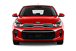 Car photography straight front view of a 2017 KIA Rio Fusion 5 Door Hatchback Front View