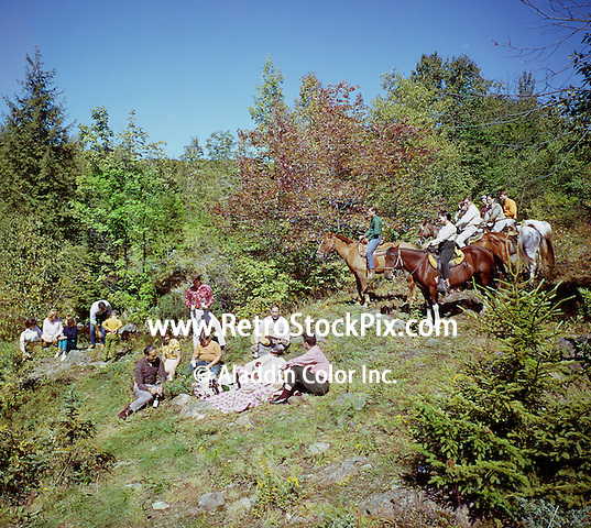 Bit N Bridle in Stony Creek, NY- Group resting after a horse ride