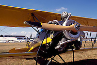 Waco INF 1930 Biplane on Static Display - at Abbotsford International Airshow, BC, British Columbia, Canada