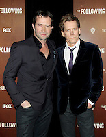 NEW YORK, NY - JANUARY 18: Kevin Bacon and James Purefoy at the world premiere of The Following at the New York Public Library in New York City. January 18, 2013. Credit:© RW/MediaPunch Inc.