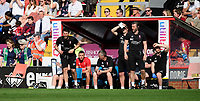 Lincoln City manager Danny Cowley, left, shouts instructions to his team from the technical area<br /> <br /> Photographer Chris Vaughan/CameraSport<br /> <br /> The EFL Sky Bet League Two - Lincoln City v Tranmere Rovers - Monday 22nd April 2019 - Sincil Bank - Lincoln<br /> <br /> World Copyright © 2019 CameraSport. All rights reserved. 43 Linden Ave. Countesthorpe. Leicester. England. LE8 5PG - Tel: +44 (0) 116 277 4147 - admin@camerasport.com - www.camerasport.com