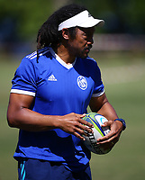 DURBAN, SOUTH AFRICA -Monday February 18th: Tana Umaga (Assistant Coach) of the Blues during the Blues Training at Northwood School Durban North, on February 18th, 2019 in Durban, South Africa. Photo by Steve Haag / stevehaagsports.com