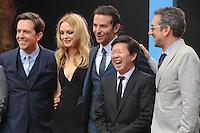 NON EXCLUSIVE PICTURE: PAUL TREADWAY / MATRIXPICTURES.CO.UK.PLEASE CREDIT ALL USES..WORLD RIGHTS..Ed Helms, Heather Graham, Bradley Cooper, Ken Jeong and Todd Phillips attending the European premiere of The Hangover Part 3, at the Empire Cinema in Leicester Square, London...MAY 22nd 2013..REF: PTY 133458