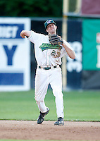 July 16, 2009:  Shortstop Chris Wade of the Jamestown Jammers during a game at Russell Diethrick Park in Jamestown, NY.  The Jammers are the NY-Penn League Short-Season Single-A affiliate of the Florida Marlins.  Photo By Mike Janes/Four Seam Images