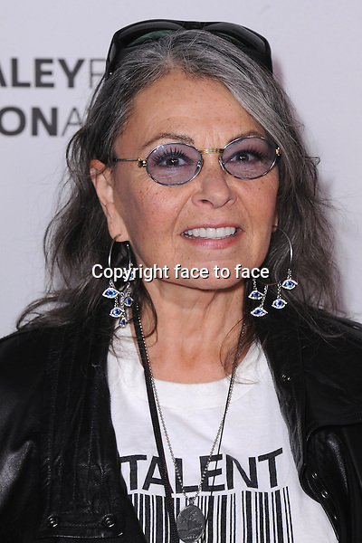 BEVERLY HILLS, CA - MARCH 10:  Roseanne Barr arrives at the 2014 PaleyFest Icon Award to Judd_Apatow at the Paley Center for the Media on March 10, 2014 in Beverly Hills, California.<br /> Credit: MediaPunch/face to face<br /> - Germany, Austria, Switzerland, Eastern Europe, Australia, UK, USA, Taiwan, Singapore, China, Malaysia, Thailand, Sweden, Estonia, Latvia and Lithuania rights only -