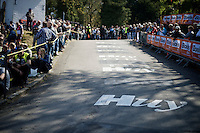 the infamous Mur de Huy (1300m/9.8%)<br /> <br /> 79th Flèche Wallonne 2015