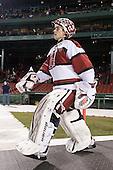 Connor Riley (Harvard - 1) - The Union College Dutchmen defeated the Harvard University Crimson 2-0 on Friday, January 13, 2012, at Fenway Park in Boston, Massachusetts.