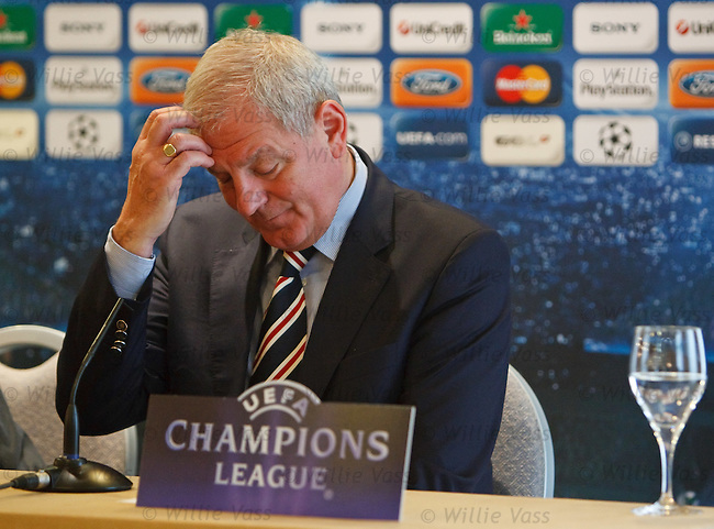 Walter Smith in Seville during the Champions League Press conference