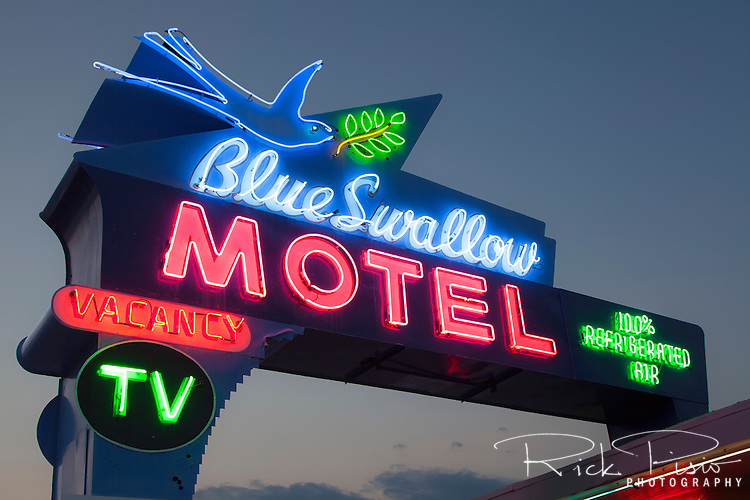 The historic Blue Swallow Motel still awaits travelers in Tucumcari, New Mexico.