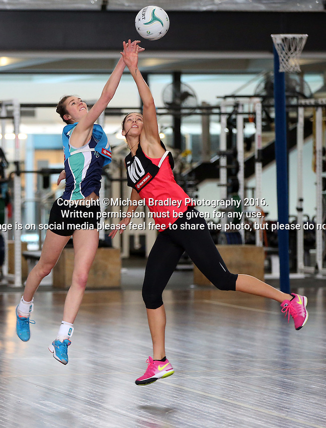 02.09.2016 Silver Ferns Kayla Cullen during training in Melbourne Australia. Mandatory Photo Credit ©Michael Bradley.