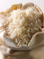Un-cooked white basmati rice - stock photos