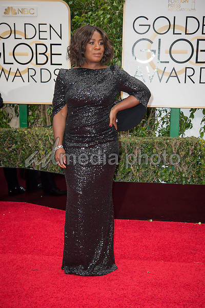 Uzo Aduba attends the 73rd Annual Golden Globes Awards at the Beverly Hilton in Beverly Hills, CA on Sunday, January 10, 2016. Photo Credit: HFPA/AdMedia