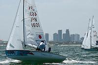 470 / Daichi TAKAYAMA - Kimihiko IMAMURA (JPN)<br /> ISAF Sailing World Cup Final - Melbourne<br /> St Kilda sailing precinct, Victoria<br /> Port Phillip Bay Tuesday 6 Dec 2016<br /> &copy; Sport the library / Jeff Crow