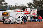 Feb 06, 2014; 6:58:05 PM; Waynesville, GA., USA; The Lucas Oil Late Model Dirt Series running The Georgia Boot Super Bowl of Racing at Golden Isles Speedway.  Mandatory Credit: (thesportswire.net)