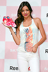 Australian model Miranda Kerr attends a Reebok press conference on April 15, 2015, in Tokyo, Japan. Miranda Kerr spoke to the media about Reebok's new shoe line ''Skyscape'' after participating in a parade at Omotesando Hills. (Photo by Rodrigo Reyes Marin/AFLO)