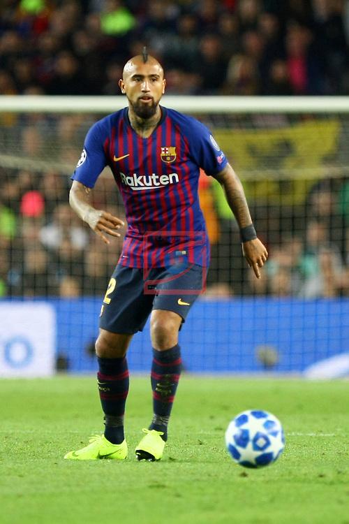 UEFA Champions League 2018/2019 - Matchday 3.<br /> FC Barcelona vs FC Internazionale Milano: 2-0.<br /> Arturo Vidal.