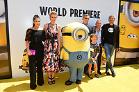 Dana Gaier, Kristen Wiig, Steve Carell, Nev Scharrel, Kyle Balda &amp; Eric Guillon at the world premiere for &quot;Despicable Me 3&quot; at the Shrine Auditorium, Los Angeles, USA 24 June  2017<br /> Picture: Paul Smith/Featureflash/SilverHub 0208 004 5359 sales@silverhubmedia.com