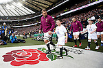 England's Chris Robshaw with 6 year old mascot Harry Westlake from Plymouth - RBS 6 Nations - England vs Italy - Twickenham Stadium - London - 14/02/2015 - Pic Charlie Forgham-Bailey/Sportimage