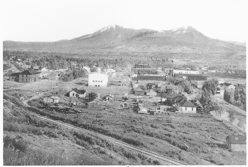 Overall scene of town from railroad trackside.<br /> Hotchkiss, North Fork Branch, CO  1900-1910
