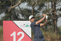 Adrien Saddier (FRA) in action on the 12th during Round 2 of the Hero Indian Open at the DLF Golf and Country Club on Friday 9th March 2018.<br /> Picture:  Thos Caffrey / www.golffile.ie<br /> <br /> All photo usage must carry mandatory copyright credit (&copy; Golffile | Thos Caffrey)