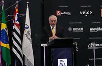 SÃO PAULO, 08.11.2018  - MICHEL TEMER  - O Presidente Michel Temer participa da cerimonia de abertura oficial do  30ª edição do Salão do Automóvel nesta quinta-feira (08) no São Paulo Expo, zona sul da capital paulista.<br /> <br /> (Foto: Fabricio Bomjardim / Brazil Photo Press)