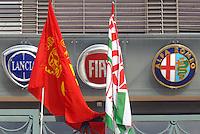 - Turin,  front of FIAT Mirafiori car factory....- Torino, facciata dello stabilimento FIAT Mirafiori....