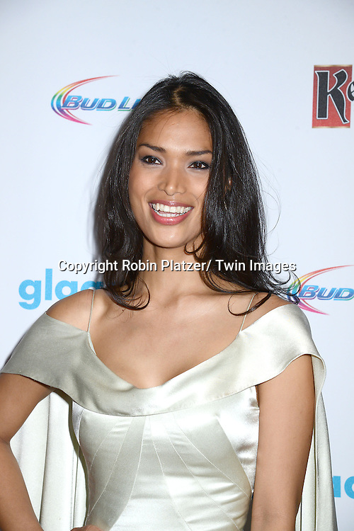 Geena Rocero attends the 25th Annual GLAAD Media Awards at the Waldorf Astoria Hotel in New York City, NY on May 3, 2014.