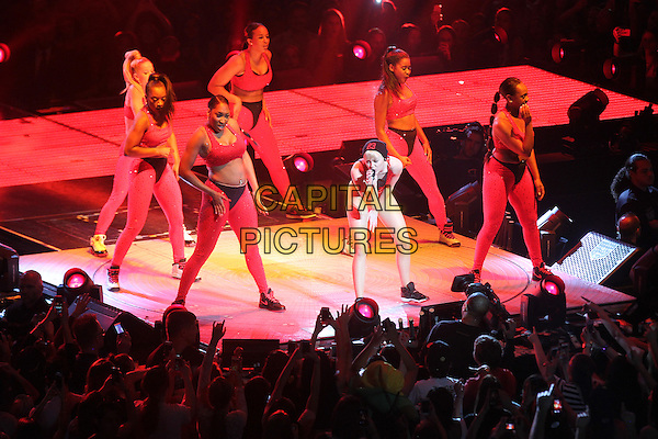 WASHINGTON, D.C. - APRIL 10: Miley Cyrus in Concert during her Bangerz Tour at the Verizon Center in Washington, D.C. on April 10, 2014.  <br /> CAP/MPI/MPI34<br /> &copy;MPI34/MediaPunch/Capital Pictures