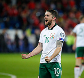 9th October 2017, Cardiff City Stadium, Cardiff, Wales; FIFA World Cup Qualification, Wales versus Republic of Ireland; Robbie Brady celebrates at full time
