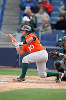 March 2, 2010:  David Villasuso of the Miami Hurricanes during a game at Legends Field in Tampa, FL.  Photo By Mike Janes/Four Seam Images