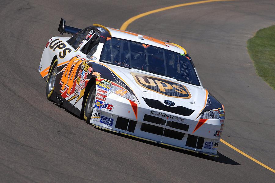 Apr 19, 2007; Avondale, AZ, USA; Nascar Nextel Cup Series driver Dale Jarrett (44) during practice for the Subway Fresh Fit 500 at Phoenix International Raceway. Mandatory Credit: Mark J. Rebilas