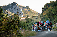 grupetto up the Le Grand Colombier final stretch<br /> <br /> Stage 15 Lyon to Grand Colombier (175km)<br /> <br /> 107th Tour de France 2020 (2.UWT)<br /> (the 'postponed edition' held in september)<br /> <br /> ©kramon