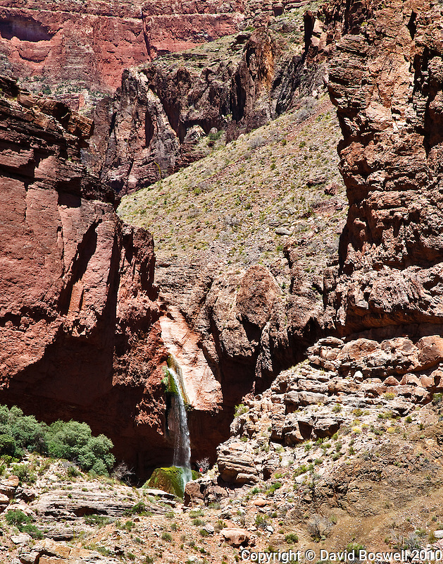 Ribbon Falls, along the North Kaibab Trail in the Grand Canyon, Arizona.