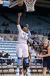 30 October 2013: North Carolina's Stephanie Mavunga (1). The University of North Carolina Tar Heels played the Carson-Newman College Eagles in a women's college basketball exhibition game at Carmichael Arena in Chapel Hill, North Carolina. UNC won the preseason game 111-50.