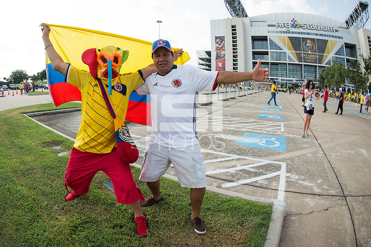 Photo before the match Colombia vs Costa Rica, Corresponding to  Group -A- of the America Cup Centenary 2016 at NRG Stadium.<br /> <br /> Foto previo al partido Colombia vs Costa Rica, Correspondiente al Grupo -A- de la Copa America Centenario 2016 en el Estadio NRG , en la foto: Fans<br /> <br /> <br /> 11/06/2016/MEXSPORT/Jorge Martinez.