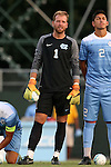 28 August 2016: North Carolina's James Pyle. The University of North Carolina Tar Heels hosted the Saint Louis University Billikens at Fetter Field in Chapel Hill, North Carolina in a 2016 NCAA Division I Men's Soccer match. UNC won the game 3-0.