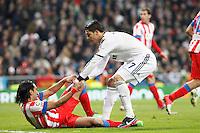 Radamel Falcao and Cristiano Ronaldo during La Liga Match. December 02, 2012. (ALTERPHOTOS/Caro Marin)