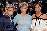 U.S. actress Annette Bening, president of the jury, center, and members Jasmine Trinca, left, and Anna Mouglalis arrive for the Award Ceremony of the 74th Venice Film Festival on September 8, 2017 in Venice, Italy.<br /> UPDATE IMAGES PRESS/Marilla Sicilia<br /> <br /> *** ONLY FRANCE AND GERMANY SALES ***
