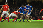 17th March 2018, Principality Stadium, Cardiff, Wales; NatWest Six Nations rugby, Wales versus France; Dany Priso of France is tackled by Alun Wyn Jones of Wales