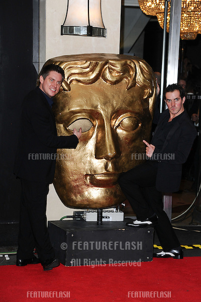 Dick and Dom arriving for the BAFTA Children's Awards 2012 at the London Hilton, London. 25/11/2012 Picture by: Steve Vas / Featureflash