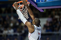 Real Madrid´s Marcus Slaughter and Galatasaray´s PLAYER during 2014-15 Euroleague Basketball match between Real Madrid and Galatasaray at Palacio de los Deportes stadium in Madrid, Spain. January 08, 2015. (ALTERPHOTOS/Luis Fernandez) /NortePhoto /NortePhoto.com