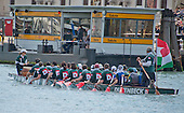 "Rowers participate in the 42nd Vogalonga regatta on the Grand Canal near the the Basilica della Salute in Venice, Italy on Sunday, May 15, 2016.  The Vogalonga, a non-competitive recreational sporting event for amateur athletes, is part of the annual ""Venice International Dragon Boat Festival.""  The Grand Canal is closed to motor-driven boats during the event.<br /> Credit: Ron Sachs / CNP"